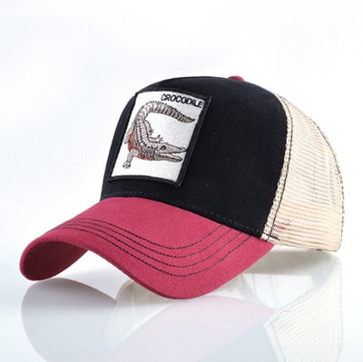 Animal Embroidered Baseball Caps Red2 crocodile / 56-60cm - Men Hats & Caps | MegaMallExpress.com