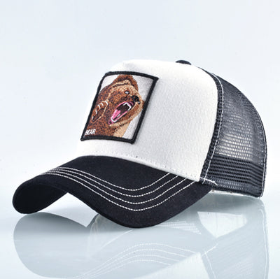 Animal Embroidered Baseball Caps White Bear / 56-60cm - Men Hats & Caps | MegaMallExpress.com