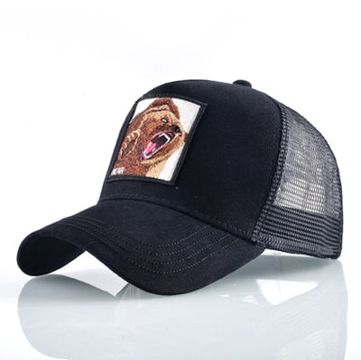Animal Embroidered Baseball Caps Black Bear / 56-60cm - Men Hats & Caps | MegaMallExpress.com