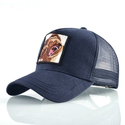 Animal Embroidered Baseball Caps Blue Bear / 56-60cm - Men Hats & Caps | MegaMallExpress.com