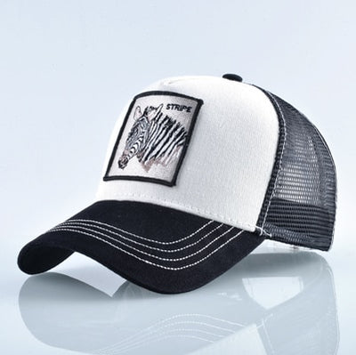 Animal Embroidered Baseball Caps White zebra / 56-60cm - Men Hats & Caps | MegaMallExpress.com
