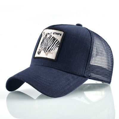 Animal Embroidered Baseball Caps Blue zebra / 56-60cm - Men Hats & Caps | MegaMallExpress.com