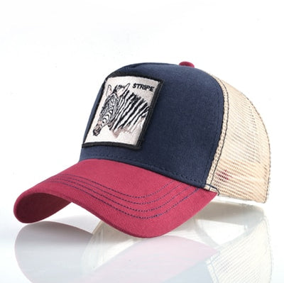 Animal Embroidered Baseball Caps Red1 zebra / 56-60cm - Men Hats & Caps | MegaMallExpress.com