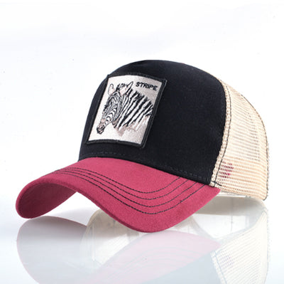 Animal Embroidered Baseball Caps Red2 zebra / 56-60cm - Men Hats & Caps | MegaMallExpress.com