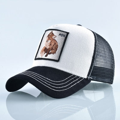 Animal Embroidered Baseball Caps White Fox / 56-60cm - Men Hats & Caps | MegaMallExpress.com