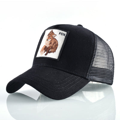 Animal Embroidered Baseball Caps Black Fox / 56-60cm - Men Hats & Caps | MegaMallExpress.com