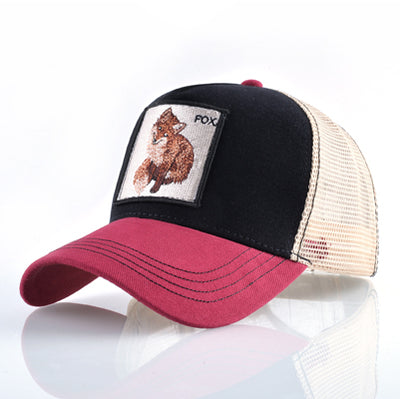 Animal Embroidered Baseball Caps Red2 Fox / 56-60cm - Men Hats & Caps | MegaMallExpress.com