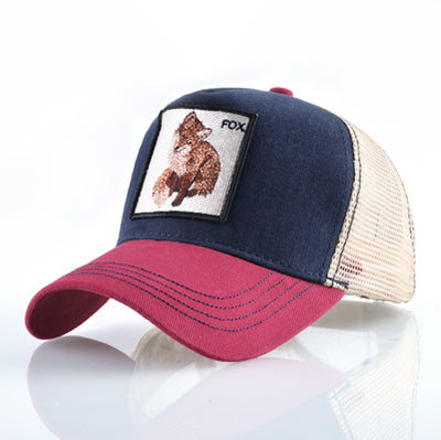 Animal Embroidered Baseball Caps Red1 Fox / 56-60cm - Men Hats & Caps | MegaMallExpress.com