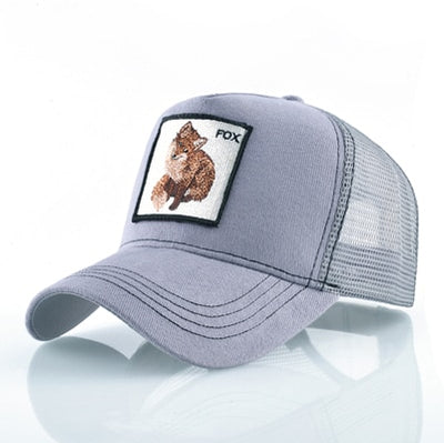 Animal Embroidered Baseball Caps Gray Fox / 56-60cm - Men Hats & Caps | MegaMallExpress.com