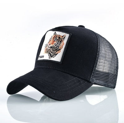 Animal Embroidered Baseball Caps Black Tiger / 56-60cm - Men Hats & Caps | MegaMallExpress.com