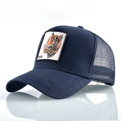 Animal Embroidered Baseball Caps Blue Tiger / 56-60cm - Men Hats & Caps | MegaMallExpress.com