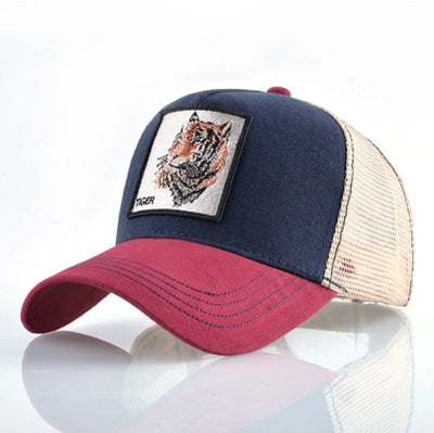 Animal Embroidered Baseball Caps Red1 Tiger / 56-60cm - Men Hats & Caps | MegaMallExpress.com