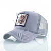 Animal Embroidered Baseball Caps Gray Tiger / 56-60cm - Men Hats & Caps | MegaMallExpress.com