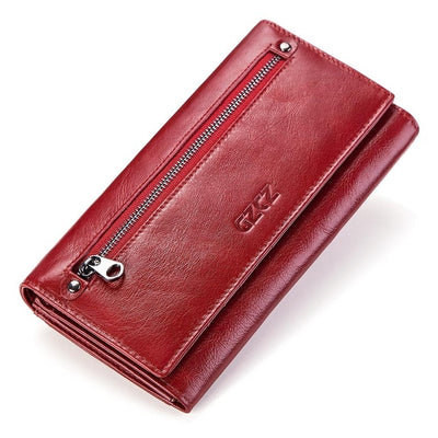 Women's Bifold RFID Wallets On Sale Red-L - Women Wallets | MegaMallExpress.com