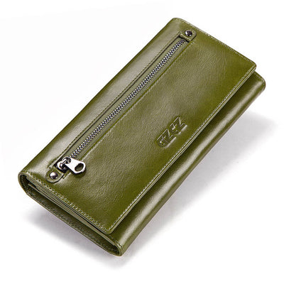 Women's Bifold RFID Wallets On Sale Green-L - Women Wallets | MegaMallExpress.com