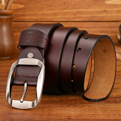 Buckle Belts coffee 3 / 37 to 40 Inches / 125CM - Men Belts | MegaMallExpress.com