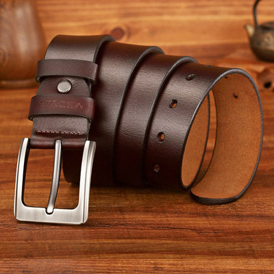 Buckle Belts coffee 1 / 37 to 40 Inches / 125CM - Men Belts | MegaMallExpress.com