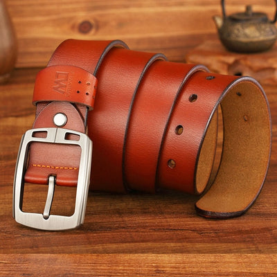 Buckle Belts brown 2 / 37 to 40 Inches / 125CM - Men Belts | MegaMallExpress.com
