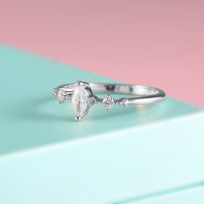Three Stone Engagement Ring 9 / 2 - Wedding & Engagement | MegaMallExpress.com