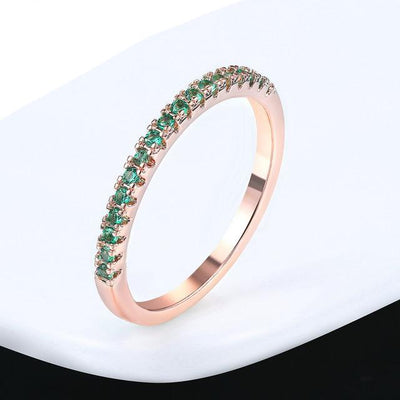 Mini CZ Wedding Ring 6.5 / RoseGold Greed - Wedding & Engagement | MegaMallExpress.com