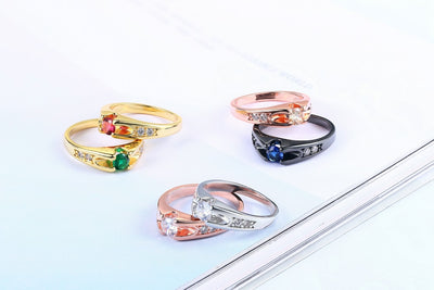 Austrian Crystal Wedding Ring  - Wedding & Engagement | MegaMallExpress.com