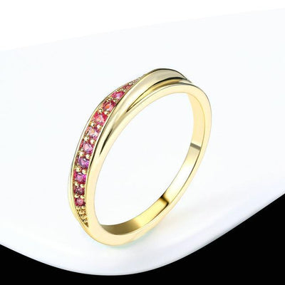 Fashion Jewelry Wedding Ring Yellow Gold Red / 9 - Wedding & Engagement | MegaMallExpress.com