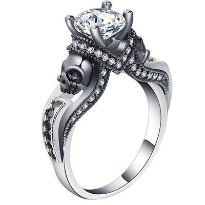 Skull Jewelry Ring 9 / White - Casual Rings | MegaMallExpress.com