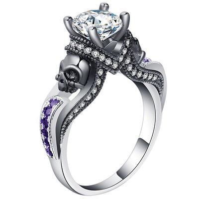 Skull Jewelry Ring 9 / PURPLE white - Casual Rings | MegaMallExpress.com