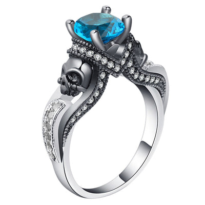 Skull Jewelry Ring 9 / blue - Casual Rings | MegaMallExpress.com