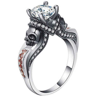 Skull Jewelry Ring 9 / WHITE red - Casual Rings | MegaMallExpress.com
