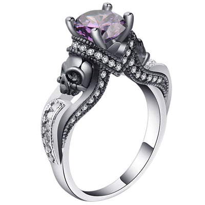 Skull Jewelry Ring 9 / purple - Casual Rings | MegaMallExpress.com