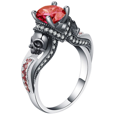 Skull Jewelry Ring 9 / red - Casual Rings | MegaMallExpress.com