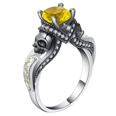 Skull Jewelry Ring 5 / Orange - Casual Rings | MegaMallExpress.com