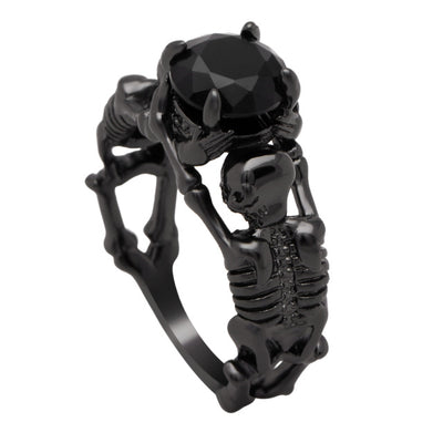 Skeleton Ring 9 / black plated - Casual Rings | MegaMallExpress.com