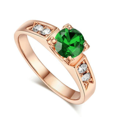 Solitaire Rings 9 / rose gold green - Wedding & Engagement | MegaMallExpress.com