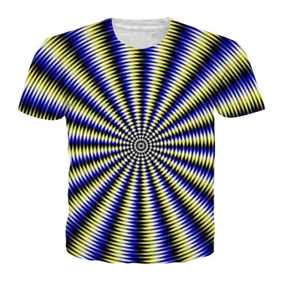 Vertigo T-shirts Blue/Black/Yellow / XXL - Men Tops & Tees | MegaMallExpress.com