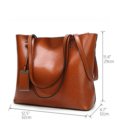 Vintage PU Leather Large Capacity Women's Bag  - Women Handbags & Purses | MegaMallExpress.com