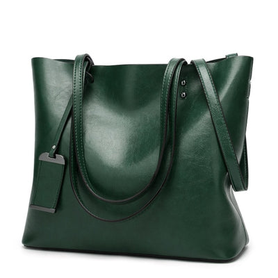 Vintage PU Leather Large Capacity Women's Bag Green / 32 x 12 x 29 cm - Women Handbags & Purses | MegaMallExpress.com
