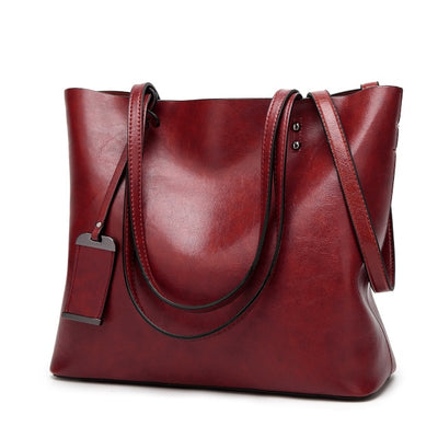 Vintage PU Leather Large Capacity Women's Bag Red / 32 x 12 x 29 cm - Women Handbags & Purses | MegaMallExpress.com