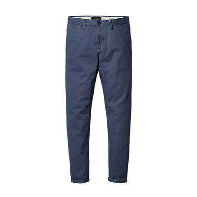 Slim Fit Chinos denim blue 5th / 30 - Men Bottoms | MegaMallExpress.com