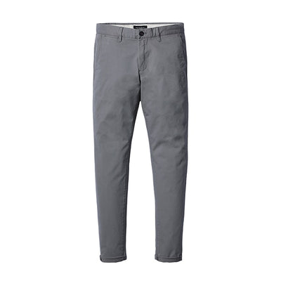 Slim Fit Chinos khaki gray 6th / 38 - Men Bottoms | MegaMallExpress.com