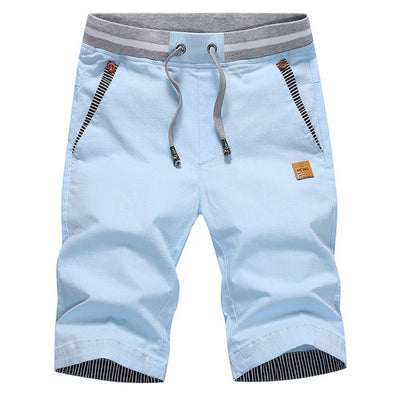 2019 Men's Casual Shorts Light Blue / XXXL - Men Bottoms | MegaMallExpress.com