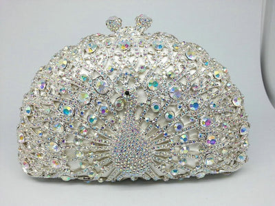Original Beaded Peacock Clutch Bag Multi 1 / Small - Women Handbags & Purses | MegaMallExpress.com