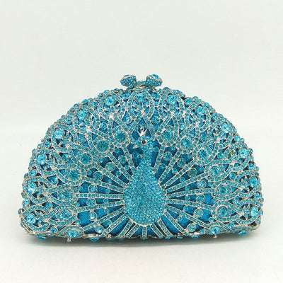 Original Beaded Peacock Clutch Bag Multi 2 / Small - Women Handbags & Purses | MegaMallExpress.com