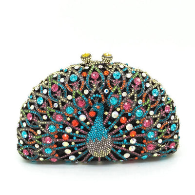 Original Beaded Peacock Clutch Bag Multi 6 / Small - Women Handbags & Purses | MegaMallExpress.com