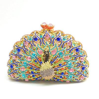 Original Beaded Peacock Clutch Bag Multi 9 / Small - Women Handbags & Purses | MegaMallExpress.com