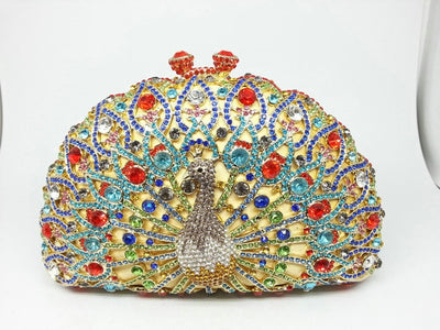 Original Beaded Peacock Clutch Bag Multi 13 / Small - Women Handbags & Purses | MegaMallExpress.com