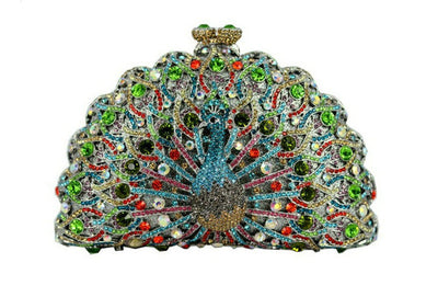 Original Beaded Peacock Clutch Bag Multi 14 / Small - Women Handbags & Purses | MegaMallExpress.com
