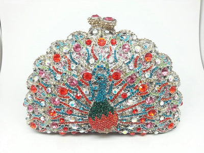 Original Beaded Peacock Clutch Bag Multi 15 / Small - Women Handbags & Purses | MegaMallExpress.com