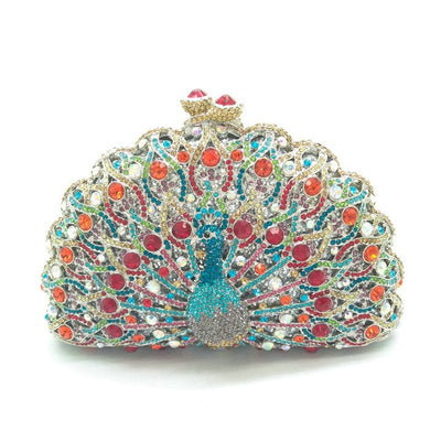 Original Beaded Peacock Clutch Bag Multi 16 / Small - Women Handbags & Purses | MegaMallExpress.com